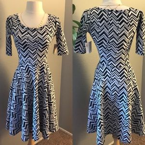 LulaRoe Nicole Chevron Dress